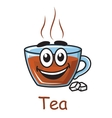 Cartoon tea cup vector image