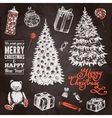 Chalkboard Chrismas Set vector image