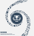 Champions cup Trophy sign icon in the center vector image