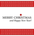 Christmas and New Year card with white ornament vector image vector image
