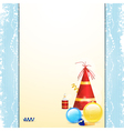 Christmas bauble and party hat panel background vector image vector image
