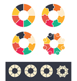 circles infographic vector image
