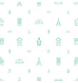 city icons pattern seamless white background vector image vector image