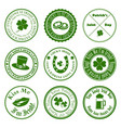 collection st patricks logos vector image vector image
