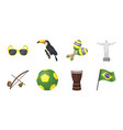 country brazil icons in set collection for design vector image