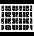 creative domino full set isolated on white vector image vector image