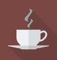 Cup of coffee side view vector image