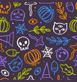 cute and trendy halloween seamless pattern vector image vector image