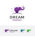 dream elephant logo design vector image