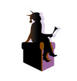 elf silhouette with stereo shadows flat vector image