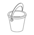 empty sand bucket isolated vector image