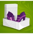 fashion womans purple ankle boots vector image vector image