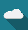 Flat design cloud icon with long shadow vector image