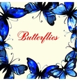 Flying butterfly card vector image