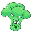 Fresh broccoli cartoon vector image vector image