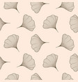 Ginkgo leaves seamless pattern