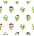 green duck head bapattern vector image vector image