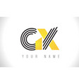 gx black lines letter logo creative line letters vector image vector image