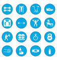 gym icon blue vector image