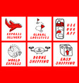 hand drawn icons set with bold lettering for vector image