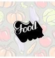 handwritten Food retro label vector image