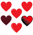 heart red hearts image pack vector image vector image