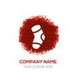 icon socks - red watercolor circle splash vector image vector image