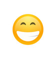 isolated yellow smiling emoji face icon vector image