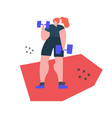 lifting dumbbells exercise handdrawn vector image vector image