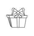 line present gift with ribbon bow decoration vector image vector image