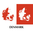 logo with silhouette of denmark map vector image vector image