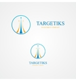 Logo with three colorful arrows vector image vector image