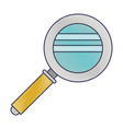 magnifying glass icon in colored crayon silhouette vector image
