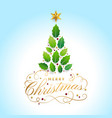 merry christmas card with graphic christmas tree vector image