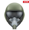 Military flight fighter pilot helmet vector image