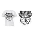 moose elk hunting club t-shirt print mockup vector image vector image