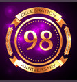 ninety eight years anniversary celebration with vector image vector image