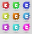 notebook icon sign A set of nine original needle vector image
