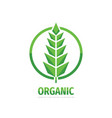 organic product - concept business logo design vector image vector image