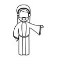 outlined joseph man manger character vector image vector image