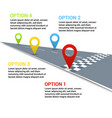 road infographic concept vector image vector image