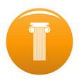roman column icon orange vector image vector image