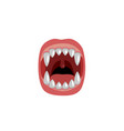scary mouth with fangs design for halloween vector image vector image