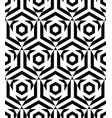 seamless pattern with black hexagon and triangle vector image