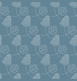 seamless pattern with bunch berries and leaf vector image vector image