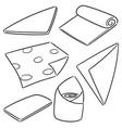 set of napkin vector image