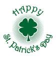 shamrock clover st patricks day symbol vector image vector image