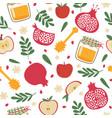 shana tova seamless pattern jewish new year rosh vector image