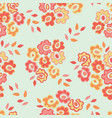 simple seamless pattern with cute doodle flowers vector image vector image