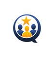 social rating vector image